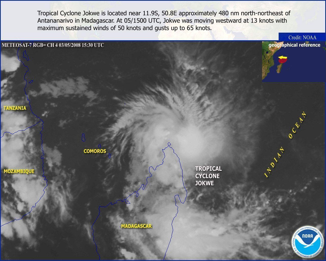 tempête cyclone océane indien